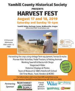 Harvest Fest - 2019 - Yamhill County Historical Society